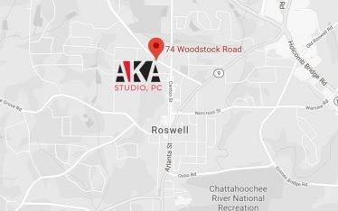 AKA roswell GA map