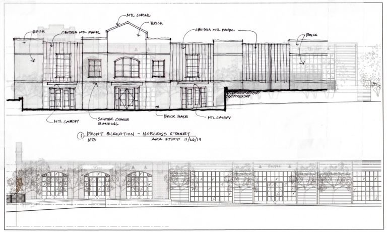 100Norcross Front Elevation Sketch