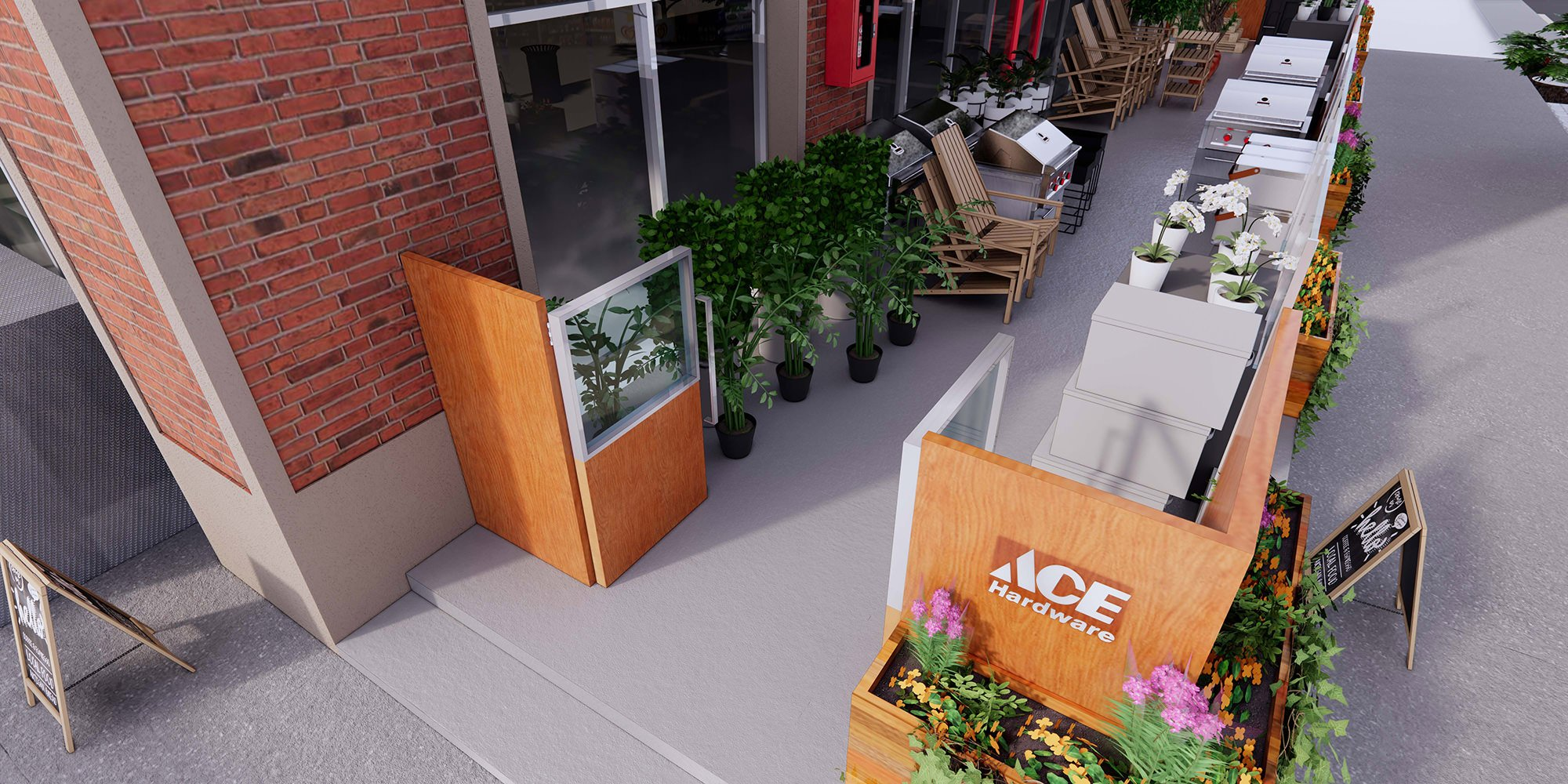 ACE Hardware Sheps Midtown street rendering