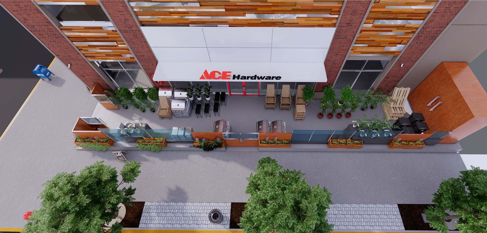 ACE Hardware Sheps Midtown exterior rendering